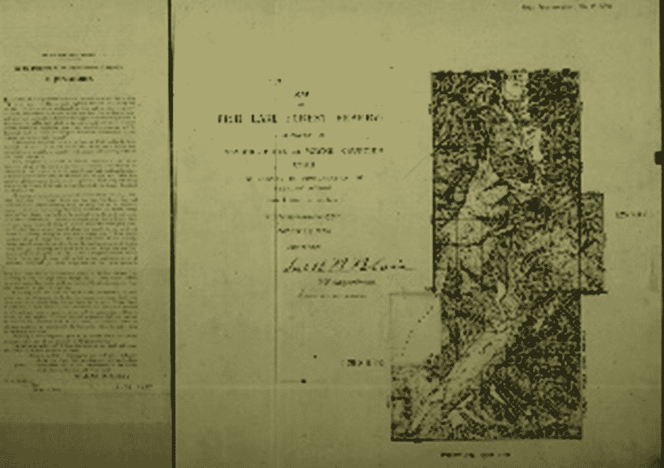 Image of the Presidential Proclamation for Fishlake